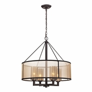 ELK 57027-4 Diffusion Contemporary Oil Rubbed Bronze Hanging Chandelier