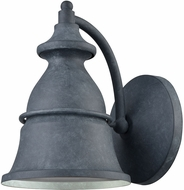 ELK 57160-1 Langhorn Aged Zinc Exterior 6  Lighting Sconce
