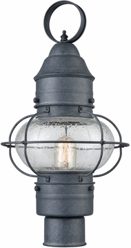 Elk 57172 1 Onion Vintage Aged Zinc Outdoor Post Lamp
