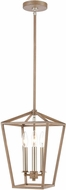 ELK 57224-3 Fairfax Light Wood / Satin Nickel Mini Hanging Light Fixture