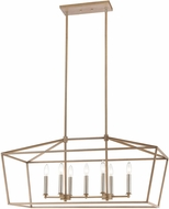ELK 57227-7 Fairfax Light Wood / Satin Nickel Kitchen Island Lighting
