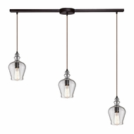 ELK 60066-3L Menlow Park Modern Oil Rubbed Bronze Multi Hanging Pendant Lighting