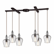 ELK 60066-6 Menlow Park Contemporary Oil Rubbed Bronze Multi Hanging Pendant Light