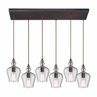 ELK 60066-6RC Menlow Park Modern Oil Rubbed Bronze Multi Pendant Hanging Light