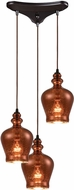 ELK 60086-3 Menlow Park Modern Oil Rubbed Bronze Multi Ceiling Light Pendant
