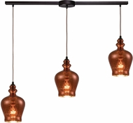 ELK 60086-3L Menlow Park Contemporary Oil Rubbed Bronze Multi Ceiling Pendant Light