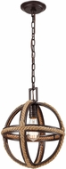 ELK 63063-1 Natural Rope Modern Oil Rubbed Bronze Hanging Light