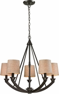 ELK 63074-5 Morrison Oil Rubbed Bronze Chandelier Lighting