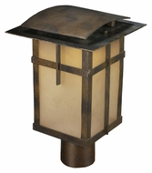 ELK 64013-1 San Fernando Hazelnut Bronze 14 Inch Tall Craftsman Outdoor Post Light Fixture