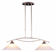 ELK 6501/2 Elysburg 2 Lamp 31 Inch Wide Modern Island Pendant Lighting - Satin Nickel