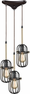 ELK 65216-3 Binghamton Oil Rubbed Bronze,Satin Brass Multi Pendant Lighting Fixture