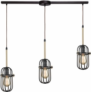 ELK 65216-3L Binghamton Oil Rubbed Bronze,Satin Brass Multi Hanging Pendant Lighting