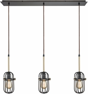 ELK 65216-3LP Binghamton Oil Rubbed Bronze,Satin Brass Multi Hanging Pendant Light