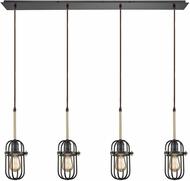 ELK 65216-4LP Binghamton Oil Rubbed Bronze,Satin Brass Multi Pendant Hanging Light