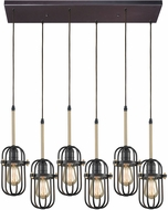 ELK 65216-6RC Binghamton Oil Rubbed Bronze,Satin Brass Multi Hanging Light Fixture