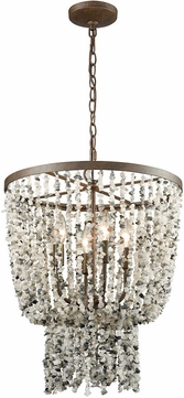 ELK 65307-4 Agate Stones Modern Weathered Bronze Drop Lighting Fixture