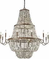 ELK 65309-12-6-3 Agate Stones Modern Weathered Bronze Chandelier Lamp