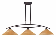 ELK 6552/3 Elysburg Aged Bronze 3 Lamp Tea Swirl Modern Kitchen Island Light Fixture