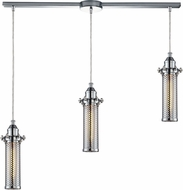 ELK 66315-3L Fulton Modern Polished Chrome Multi Pendant Lighting Fixture