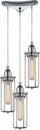 ELK 66317-3 Fulton Contemporary Polished Chrome Multi Ceiling Light Pendant