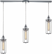 ELK 66317-3L Fulton Modern Polished Chrome Multi Ceiling Pendant Light