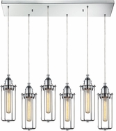 ELK 66317-6RC Fulton Contemporary Polished Chrome Multi Drop Ceiling Light Fixture