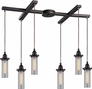 ELK 66326-6 Fulton Modern Oil Rubbed Bronze Multi Pendant Lighting Fixture