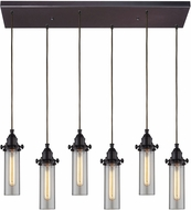 ELK 66326-6RC Fulton Contemporary Oil Rubbed Bronze Multi Hanging Pendant Lighting