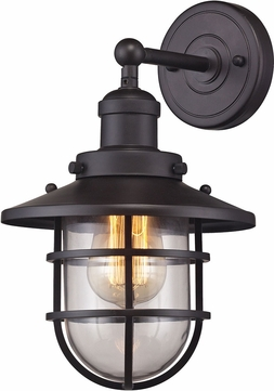 ELK 66366-1 Seaport Nautical Oil Rubbed Bronze Wall Sconce Lighting