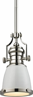 ELK 66514-1 Chadwick Modern Gloss White/Polished Nickel Mini Drop Ceiling Light Fixture