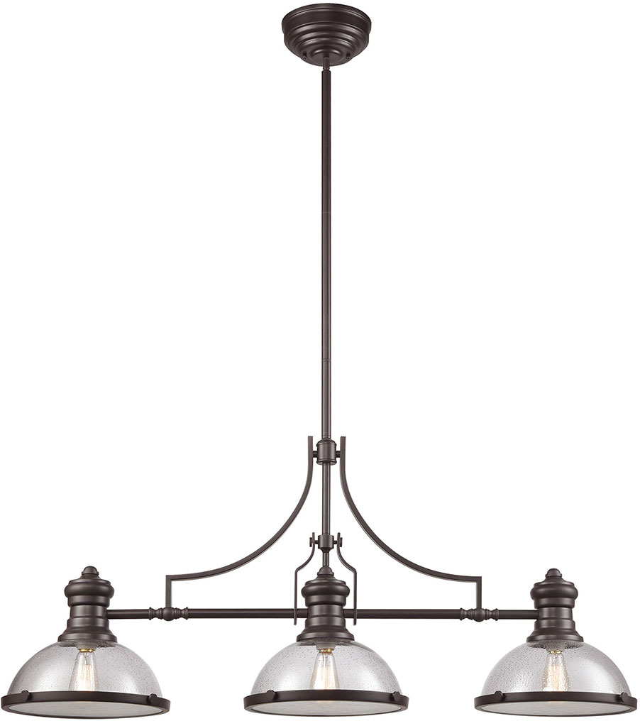 ELK Chadwick Modern Oil Rubbed Bronze Kitchen Island Light - Oil rubbed bronze kitchen light fixtures