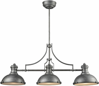 ELK 66585-3 Chadwick Weathered Zinc Kitchen Island Light Fixture