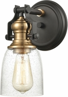 ELK 66684-1 Chadwick Contemporary Oil Rubbed Bronze / Satin Brass Lighting Sconce