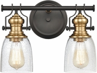 ELK 66685-2 Chadwick Contemporary Oil Rubbed Bronze / Satin Brass 2-Light Bathroom Vanity Light Fixture