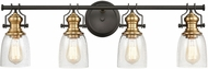 ELK 66687-4 Chadwick Contemporary Oil Rubbed Bronze / Satin Brass 4-Light Bath Wall Sconce