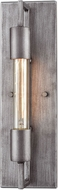 ELK 66889-1 Laboratory Contemporary Weathered Zinc Wall Light Sconce