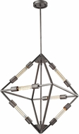 ELK 66894-6B Laboratory Contemporary Weathered Zinc Hanging Pendant Lighting