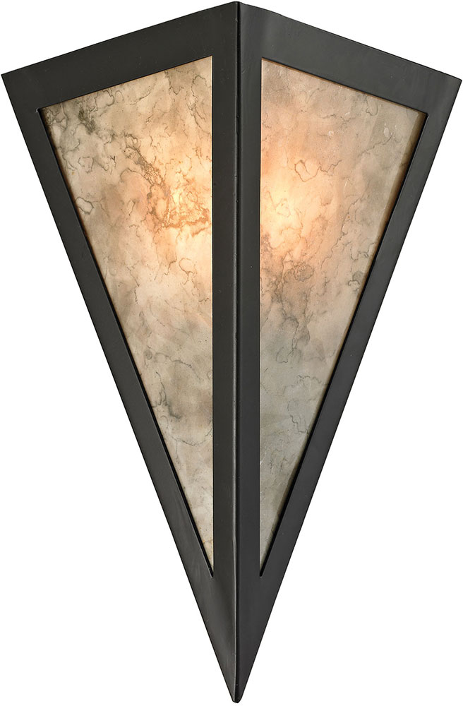 ELK Mica Contemporary Oil Rubbed Bronze Wall Sconce Light - Bathroom sconce lighting oil rubbed bronze