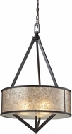 ELK 66951-3 Mica Modern Oil Rubbed Bronze Drop Lighting