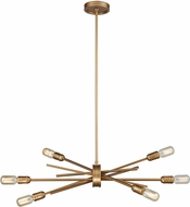 ELK 66971-6 Xenia Contemporary Matte Gold Ceiling Chandelier