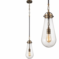 ELK 67130-1 Gramercy Modern Antique Brass Oil Rubbed Bronze Mini Hanging Pendant Lighting