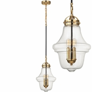 ELK 67153-3 Gramercy Contemporary Polished Gold Oil Rubbed Bronze Drop Ceiling Lighting