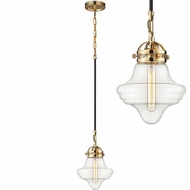 ELK 67154-1 Gramercy Modern Polished Gold Oil Rubbed Bronze Mini Ceiling Light Pendant
