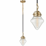 ELK 67155-1 Gramercy Contemporary Polished Gold Oil Rubbed Bronze Mini Ceiling Pendant Light