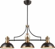 ELK 67217-3 Chadwick Contemporary Oil Rubbed Bronze / Satin Brass Island Light Fixture