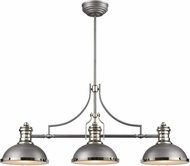 ELK 67237-3 Chadwick Contemporary Weathered Zinc / Polished Nickel Kitchen Island Light Fixture