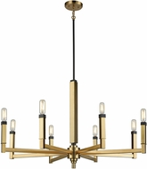 ELK 67758-8 Mandeville Contemporary Satin Brass,Oil Rubbed Bronze Chandelier Lamp