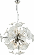 ELK 68145-12 Vershire Contemporary Polished Nickel Hanging Pendant Light