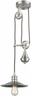 ELK 69073-1 Spindle Wheel Contemporary Satin Nickel Mini Hanging Light Fixture