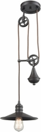 ELK 69083-1 Spindle Wheel Modern Oil Rubbed Bronze Mini Drop Lighting